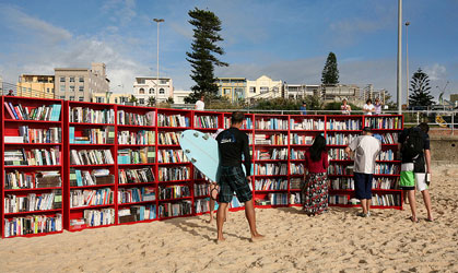 Bondi Beach Bookshelves