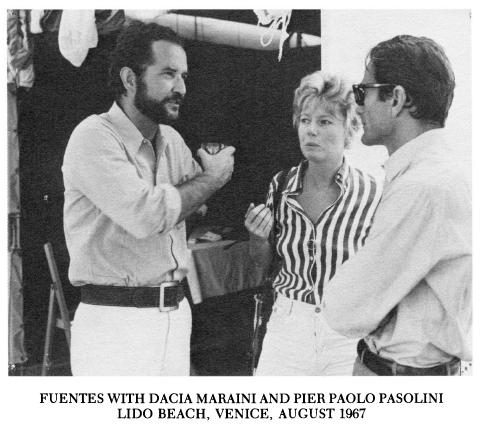 Fuentes with Dacia Maraini and Pier Paolo Pasolini