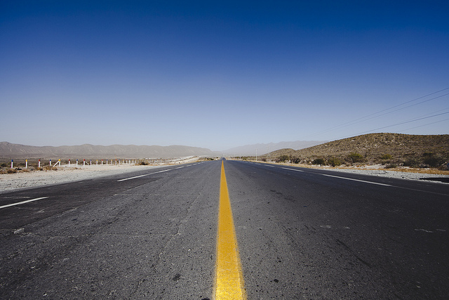 Long stretch of road