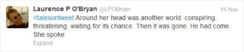Tweet by Lauren P. O'Bryan