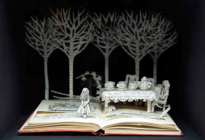 Art made from books