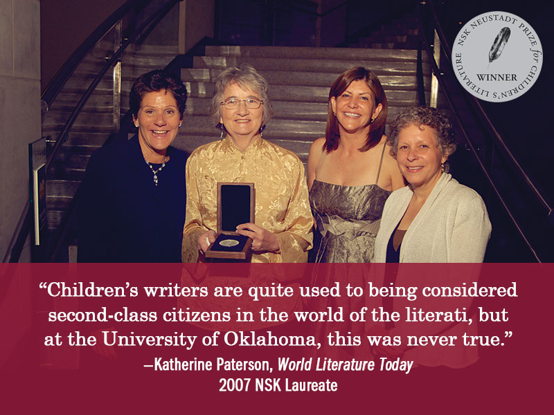 Katherine Paterson, NSK Prize Laureate