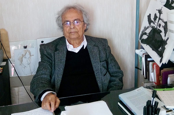 Photo of Adonis in his Parisian office by Erkut Tokman