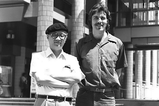 Frederik L. Schodt with manga legend Osamu Tezuka in 1981