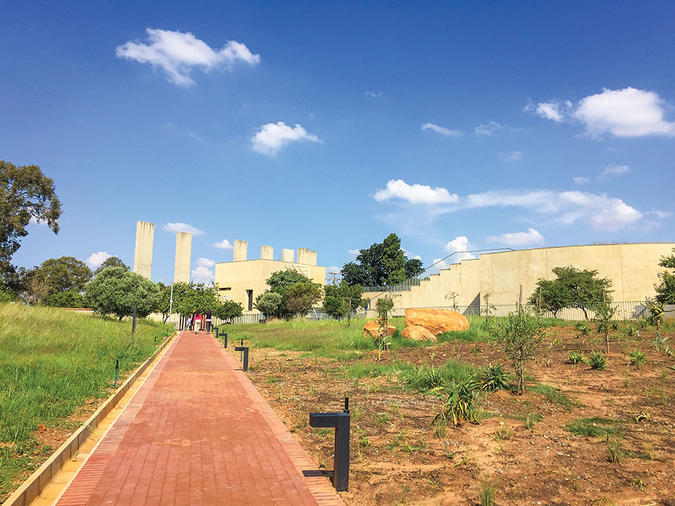 Garden outside the Apartheid Museum