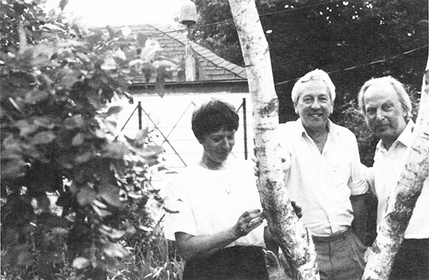 Monica and Tomas Tranströmer with Ivar Ivask.
