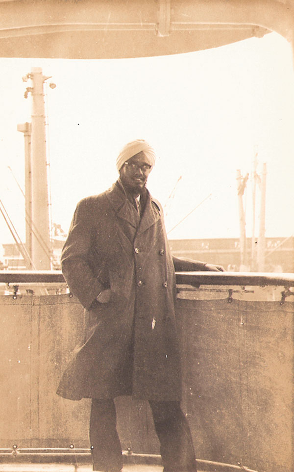 The author's father, Surinder Singh, onboard  The Southampton bound for England, 1958