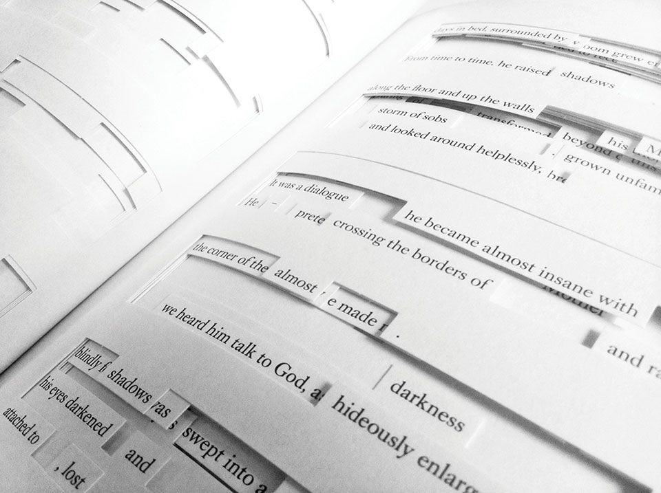 Close-up photo of Tree of Codes by Jonathan Safran Foer