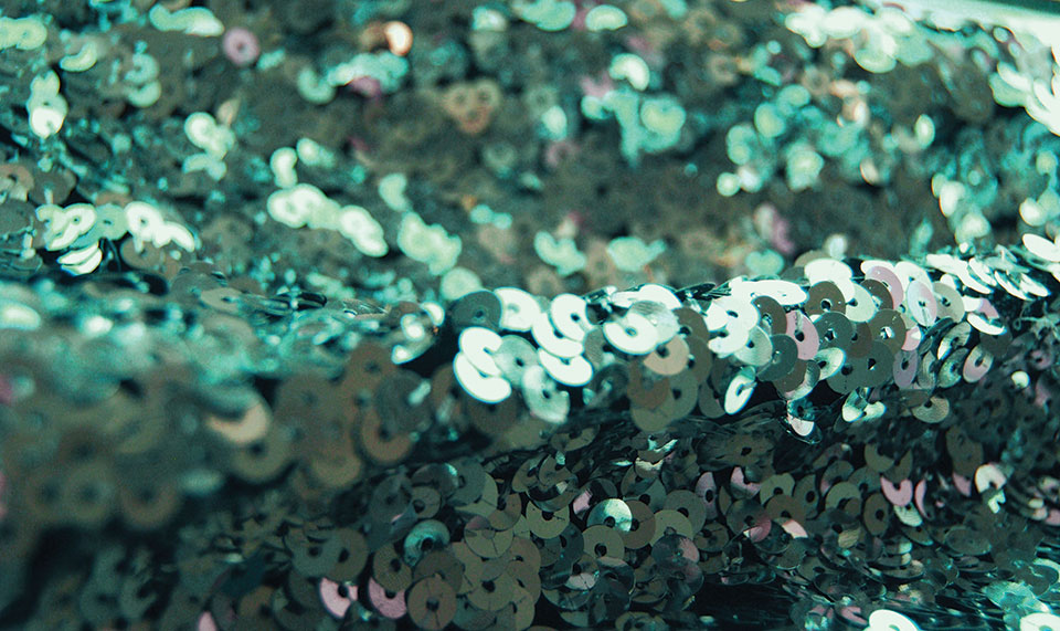 Green sequins. Photo by Soffie Hicks