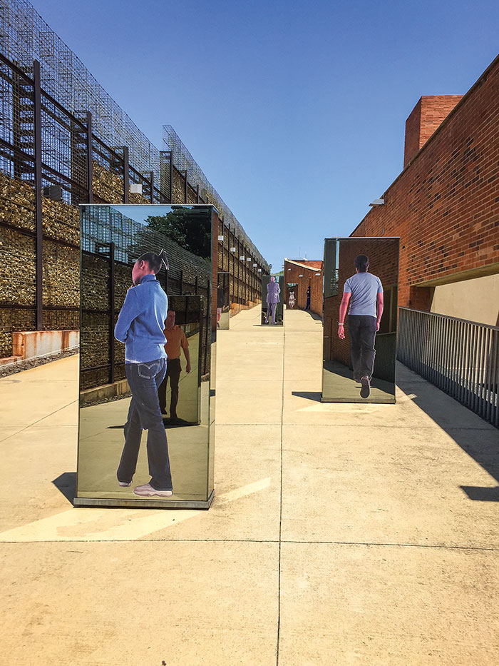 Walkway outside the Apartheid Musuem