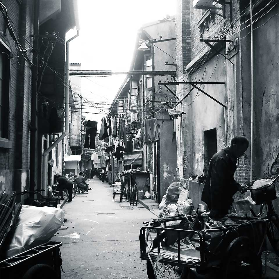 Street in Shanghai. Photo: Maria Teresa Bologna