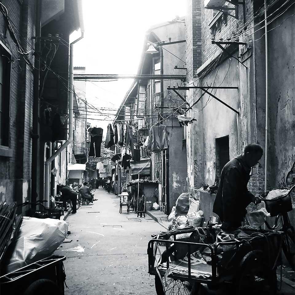 Street in Shanghai. Photo: Maria Teresa Bologna