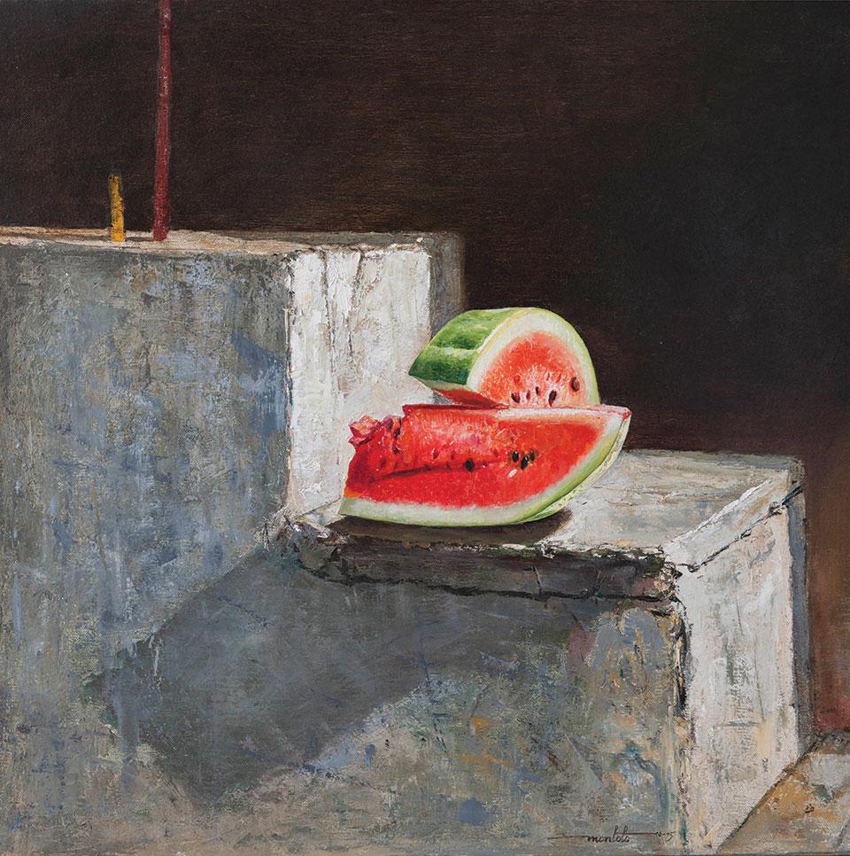 Arturo Montoto (Cuba), En algún lugar de la ciudad, 2015, oil on canvas, 60x60 cm
