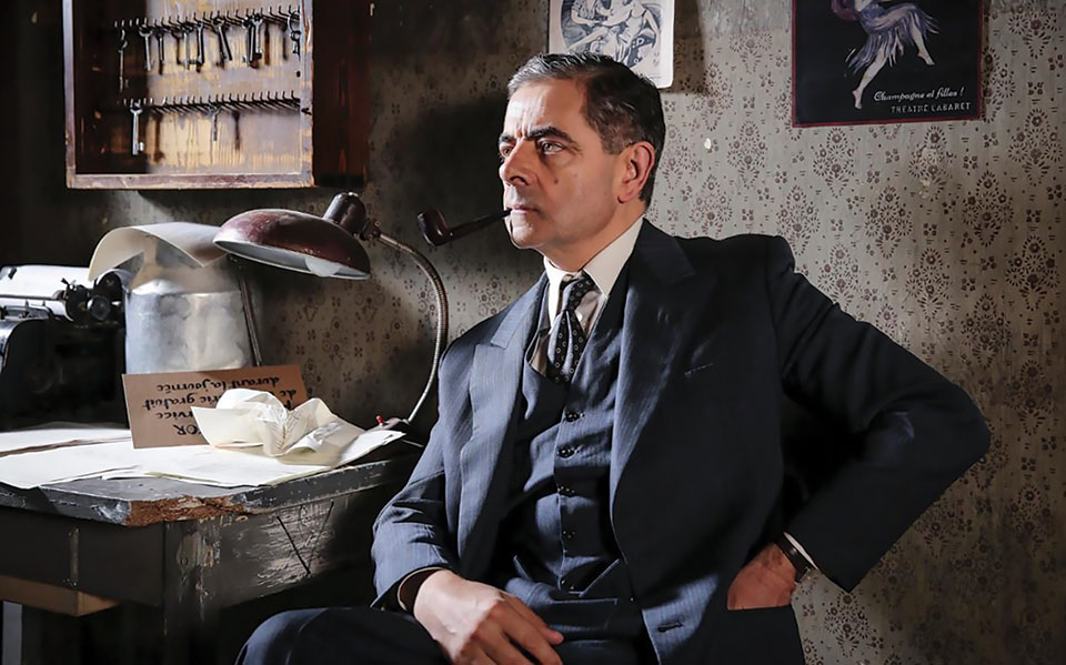 Rowan Atkinson as Maigret in the ITV feature-length adaptation of Maigret Sets a Trap.