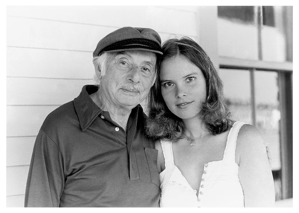 Stanley Kunitz with Claribel Alegría