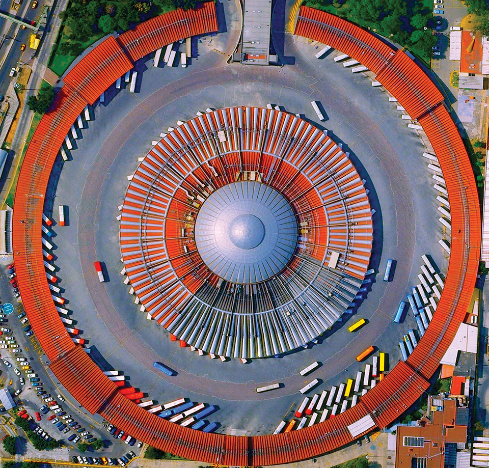Mexico City's TAPO station from above. Photo: Anthony Quigley
