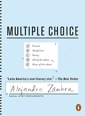The cover to Multiple Choice by Alejandro Zambra