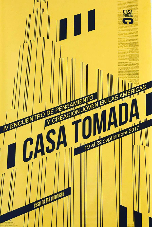 Casa Tomada poster in yellow and black