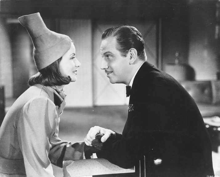 A still from Ninotchka, starring Greta Garbo and Melvyn Douglas
