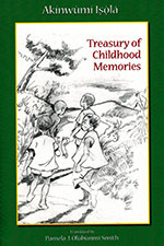 The cover to Treasury of Childhood Memories by Akinwumi Isola