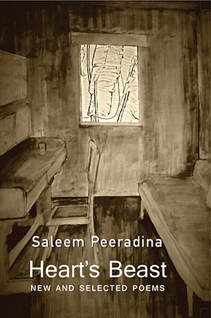 The cover to Heart's Beast: New and Selected Poems by Saleem Peeradina