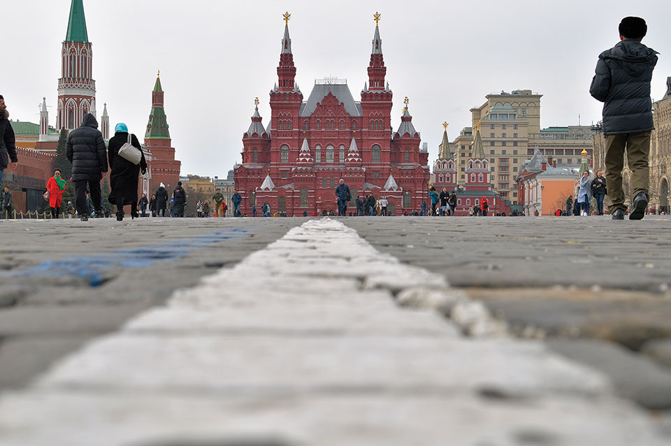 The Kremlin, taken from a considerable distance away