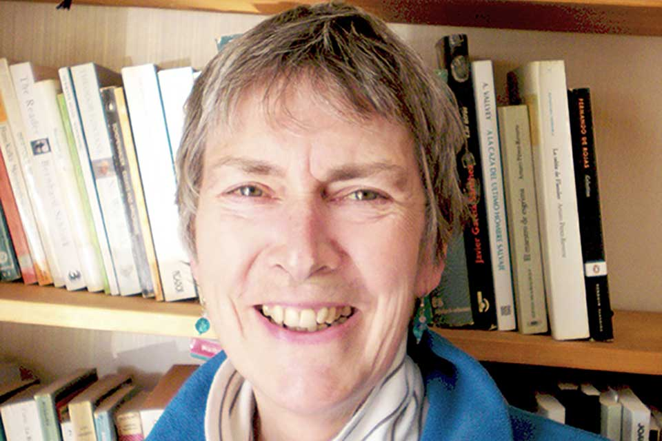 A photograph of translator Margaret Jull Costa