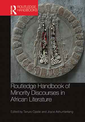 The cover to Routledge Handbook of Minority Discourses in African Literature
