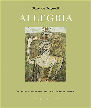 The cover to Allegria by Giuseppe Ungaretti