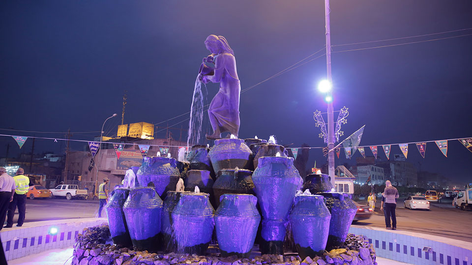 The Kahramana Statue in Baghdad, Iraq