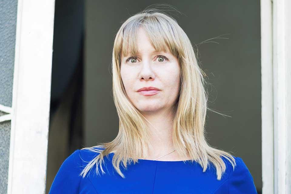 A photograph of translator Megan McDowell