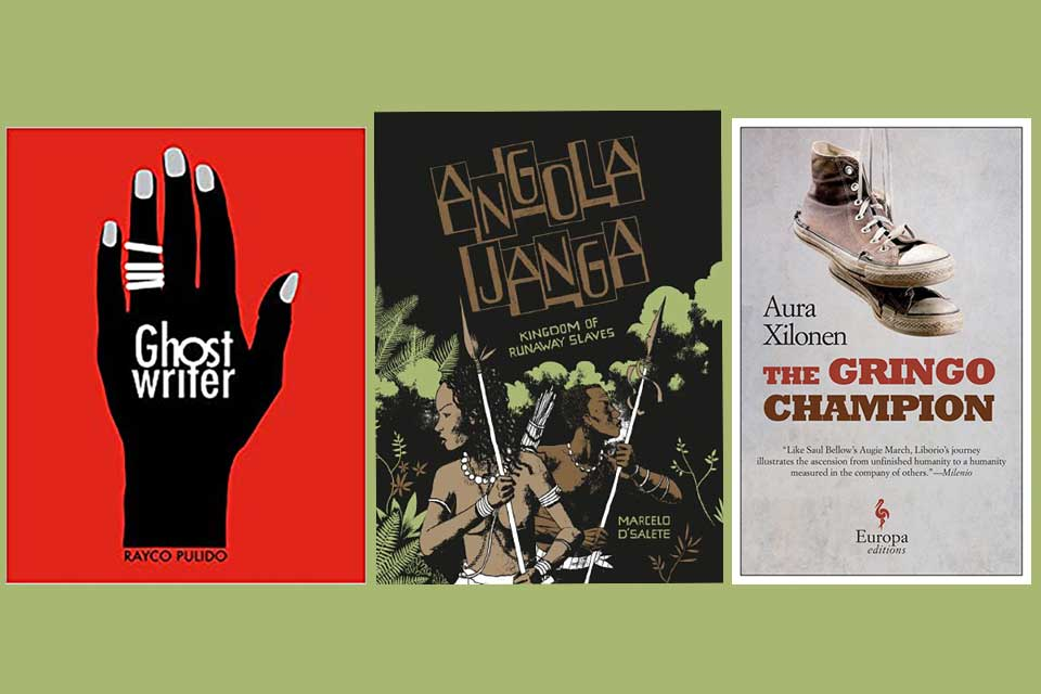 The covers to three books translated by Andrea Rosenberg