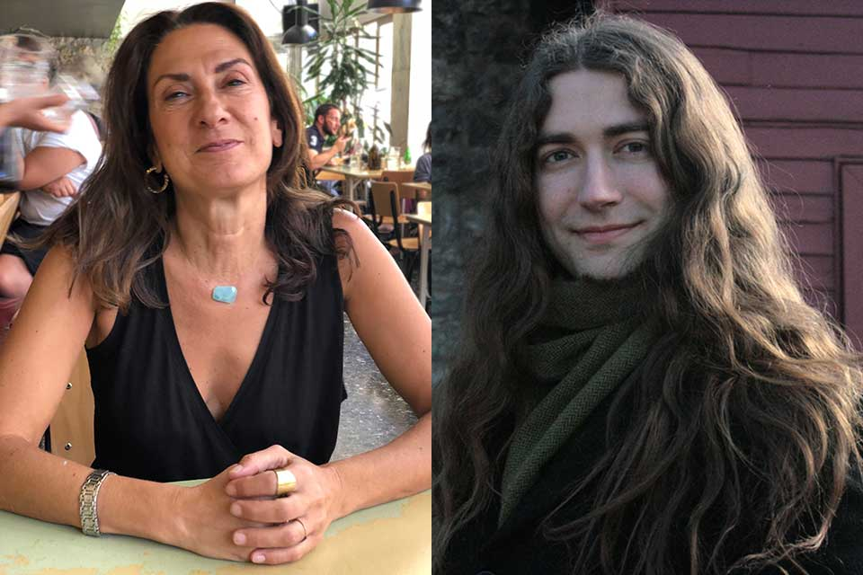 The poet Phoebe Giannisi and translator Brian Sneeden