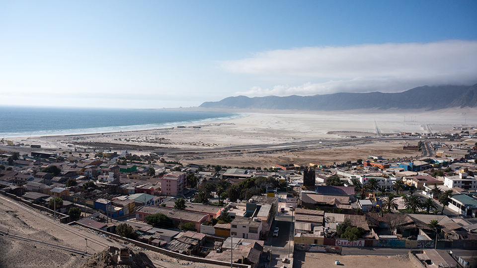 Chañaral is a small coastal city in the Atacama region of Chile. Devastating flash floods in 2015 caused an estimated .5 billion in damage to the region. Photo by jipe7.