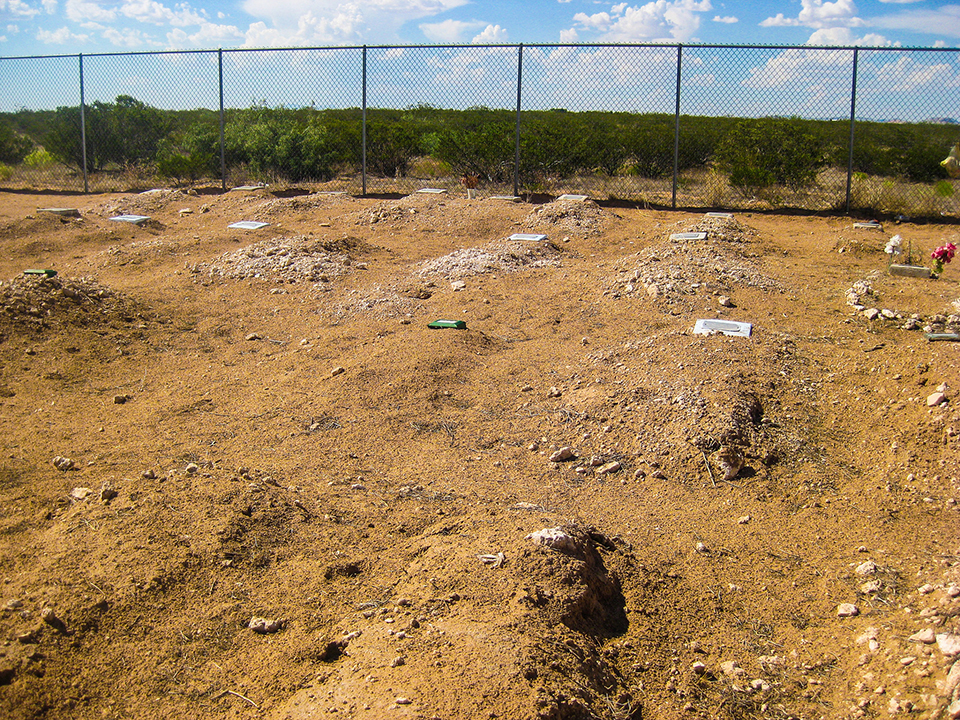 Grave at the US/Mexico border taken at a cemetery near Anthony, New Mexico, July 19, 2015 / Photo by Lanie Elizabeth