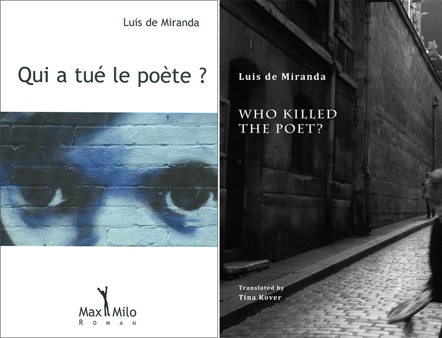 Who Killed the Poet? book covers in French and English