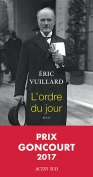The cover to L'Ordre du jour by Éric Vuillard