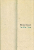 The cover to The Blue Clerk by Dionne Brand