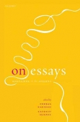 The cover to On Essays: Montaigne to the Present