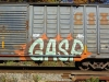 Gasp graffiti on side of a rail car. Photo by Cranky Messiah/Flickr