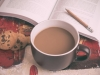 A book with coffee