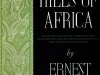 The cover to Green Hills of Africa by Ernest Hemingway