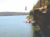 Cliff jumping at Tenkiller Lake, August 2011. Photo: Rachel Folmar