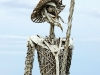 A photograph of an angular monument to Don Quixote in Tandil, Argentina made of welded metal