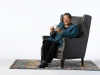 2017 NSK Laureate Marilyn Nelson sits in a chair in front of a stark white background