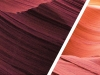 Juxtaposed photos of sand dunes through different color filters