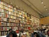 The interior of a full bookstore