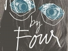 The cover to Four by Four by Sara Mesa