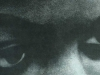 A close-up detail of Nina Simone's eyes