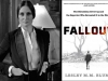 A photograph of author Lesley M. M. Blume juxtaposed with the cover to her book, Fallout